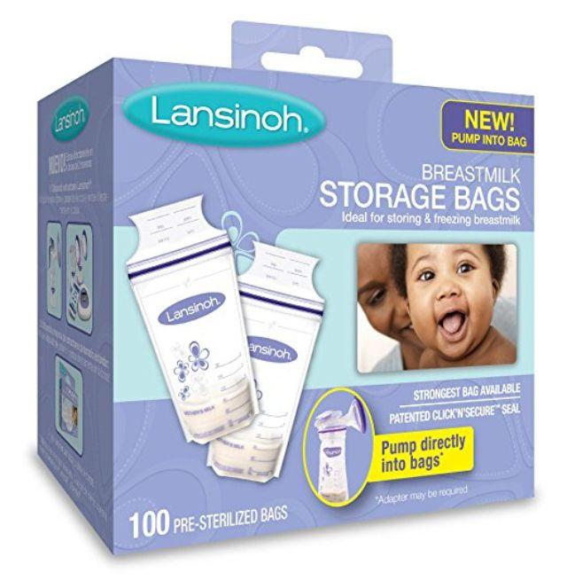 Lansinoh Breastmilk Storage Bags - 100 ct
