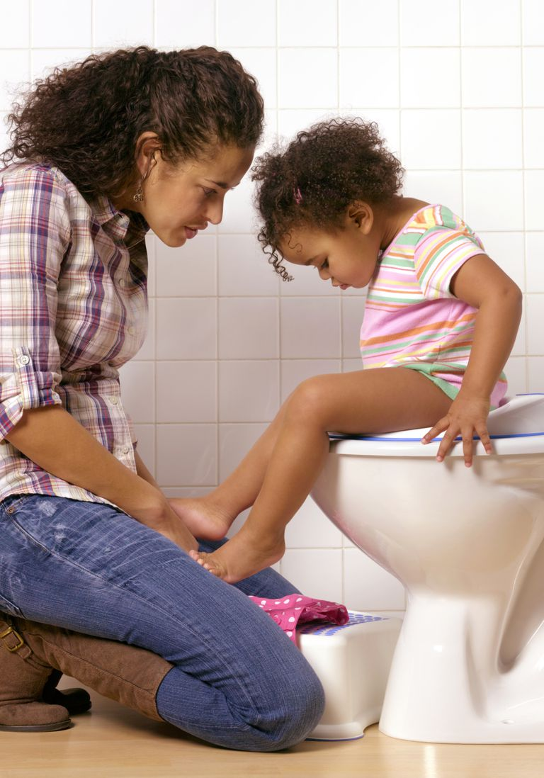 mother and daughter potty training