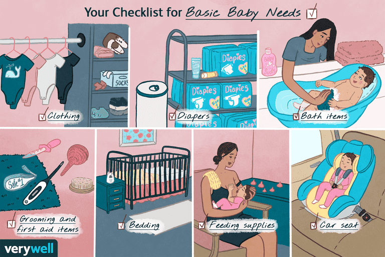 Checklist for basic baby needs