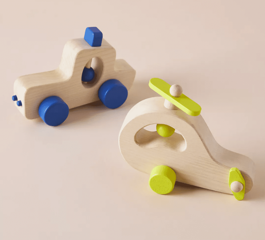 Anthropologie Wooden Vehicle Toys