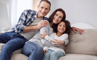 mixed race family