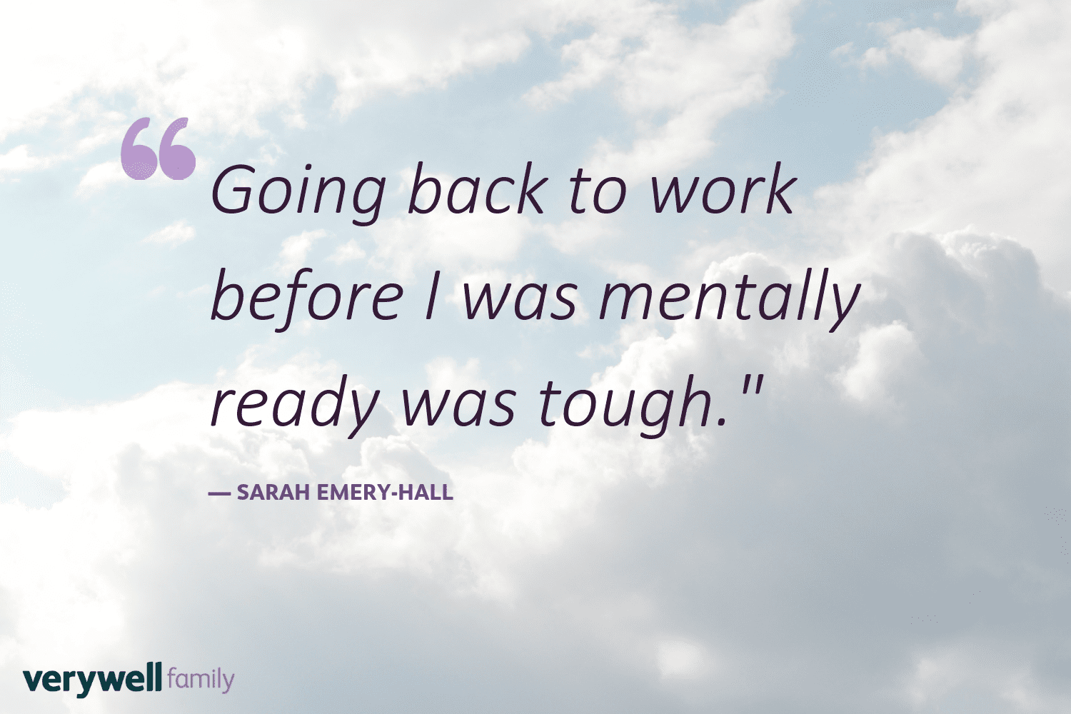 Verywell Family postpartum quote by Sarah Emery-Hall