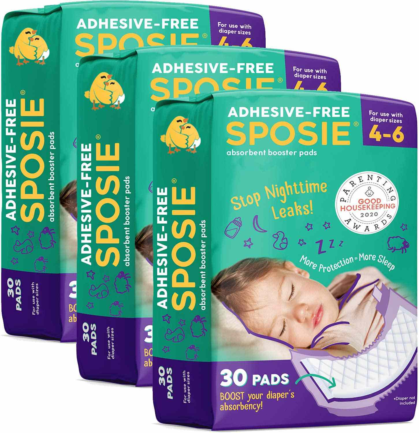 Select Kids Sposie Overnight Diaper Booster Pads