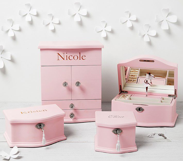 Pink Abigail Jewelry Box Collection