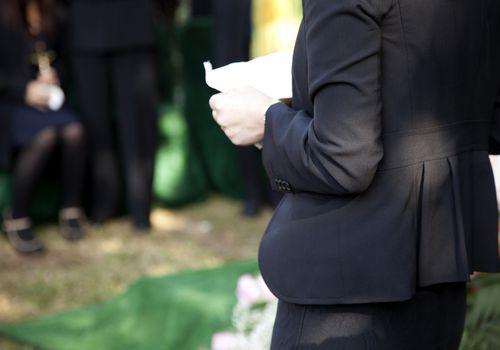 Sadness at a funeral