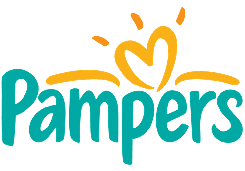 The Pampers logo.
