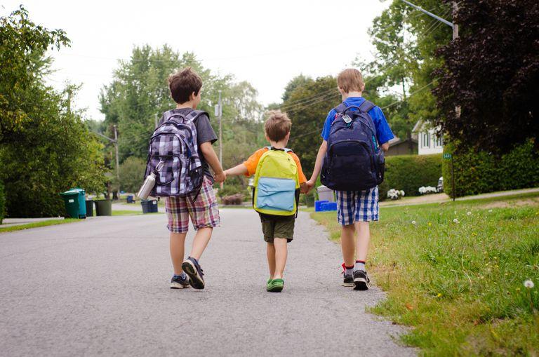 boys walking alone