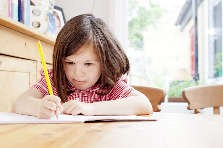 child learning to write