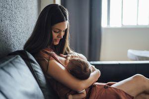 person breastfeeding
