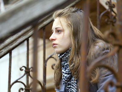 teen girl thinking