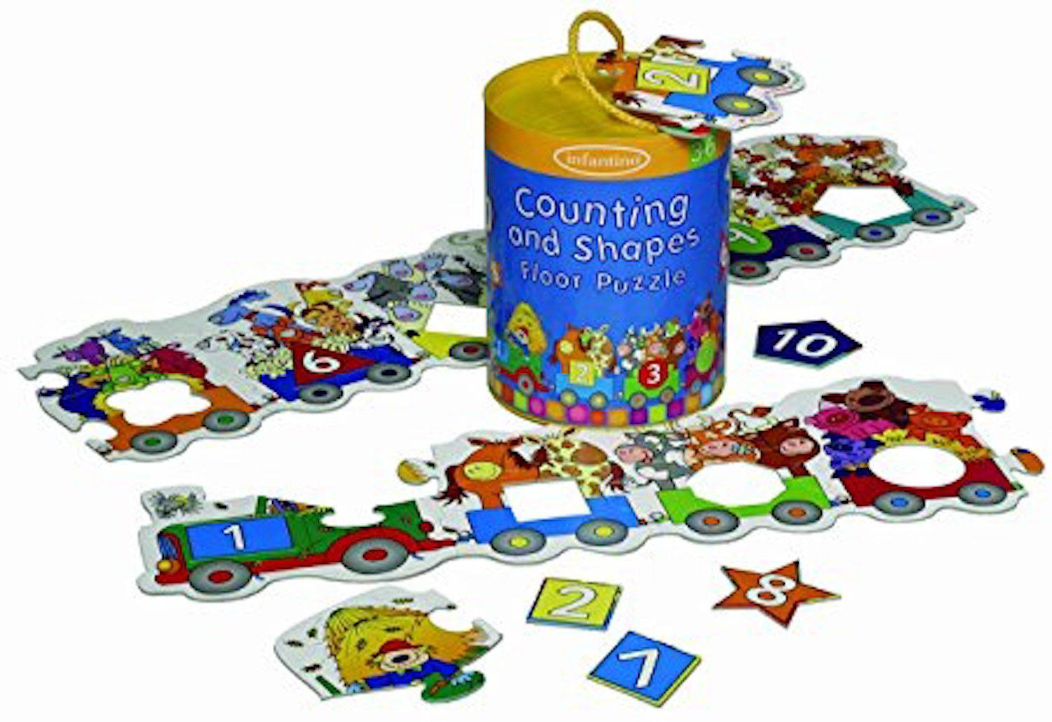 Infantino Counting & Shapes Floor Puzzle (Discontinued by Manufacturer)