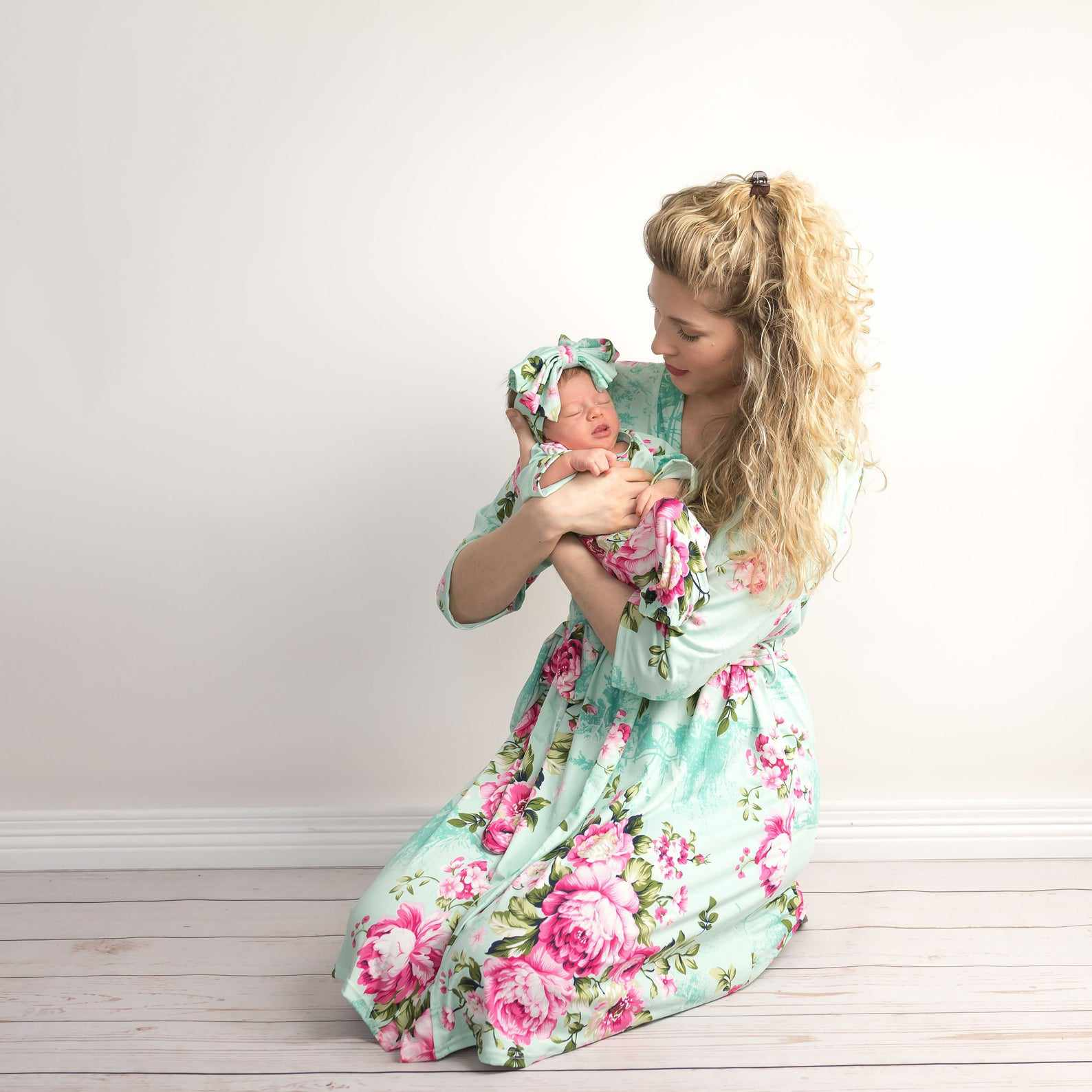 Maternity Robe and Matching Swaddle