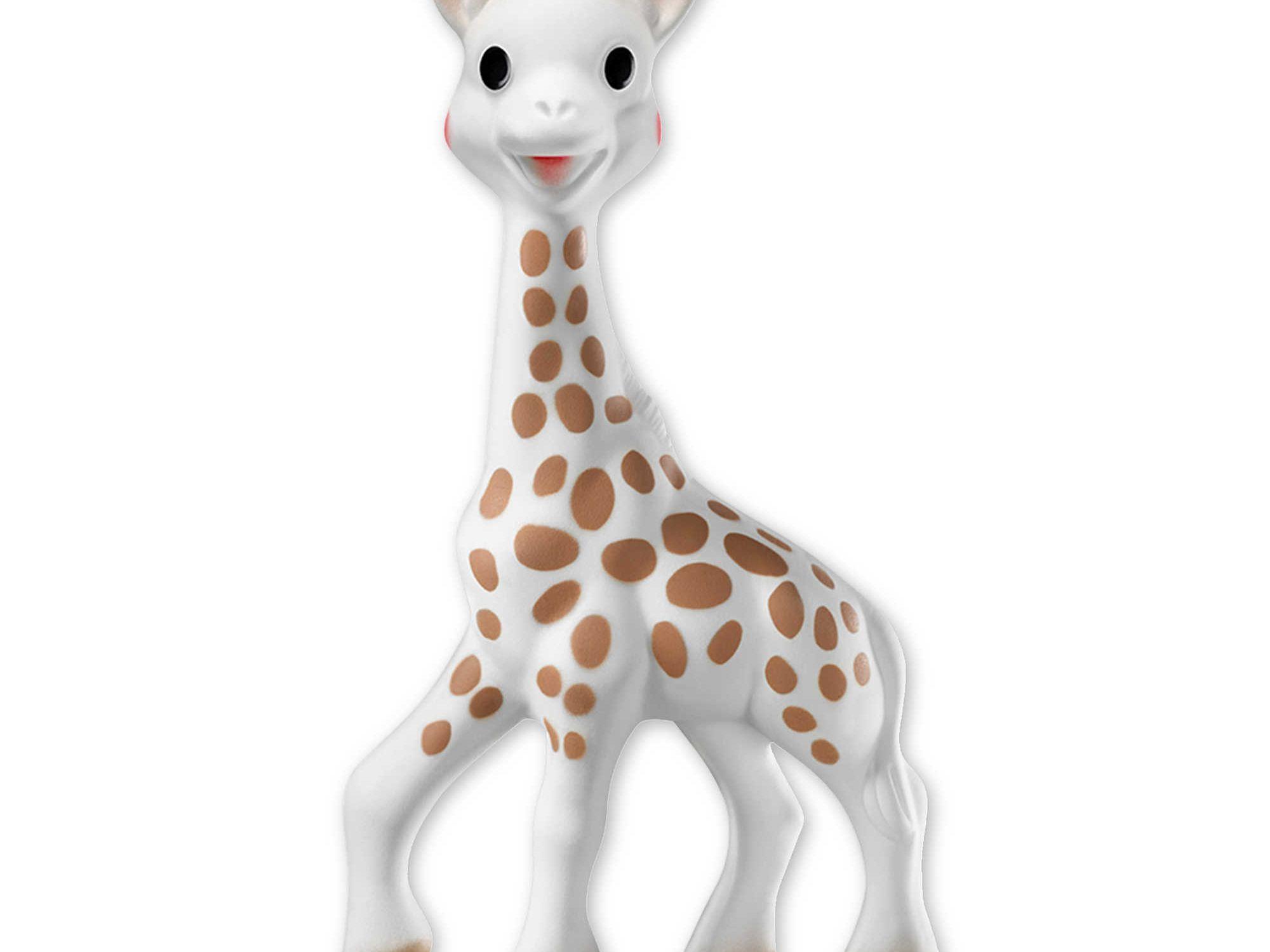 Cartoon Giraffe Shape Baby Teether Silicone BPA Free Teething Toy Necklace
