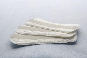 Close up of sanitary napkins