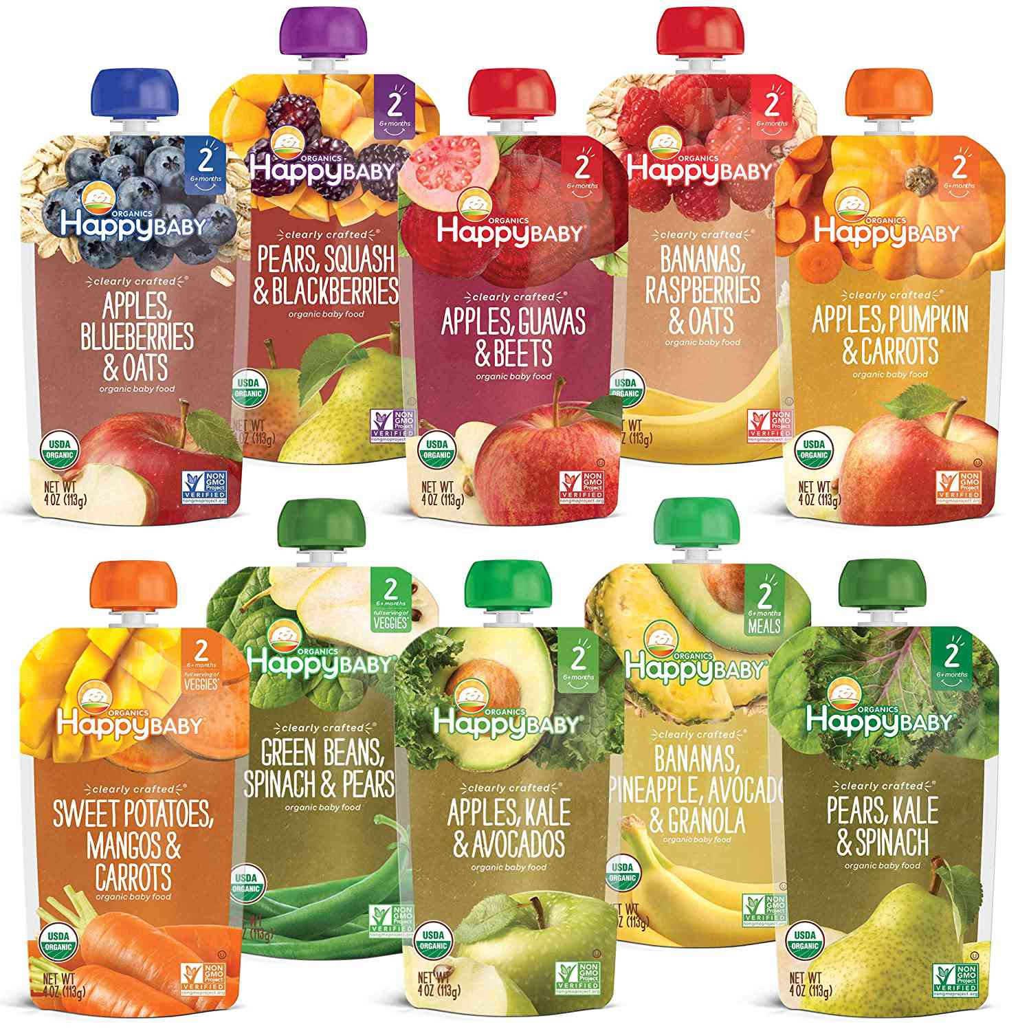 Happy Baby Organics Clearly Crafted Baby Food Pouches