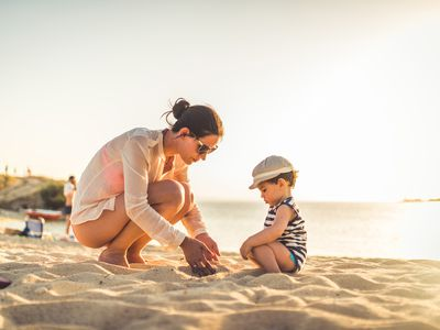 Enjoying vacation time with your toddler