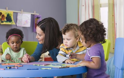kids in daycare with provider