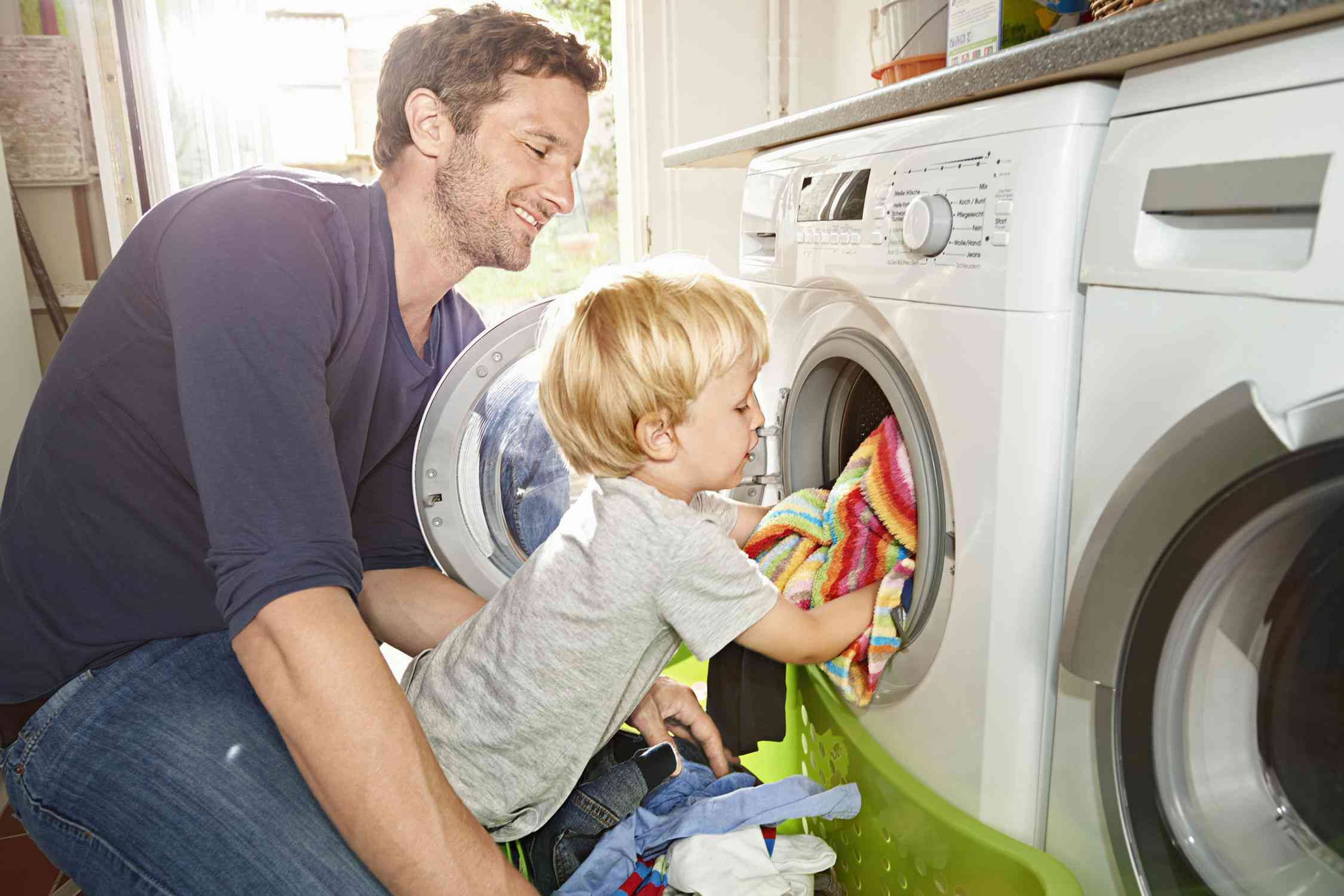 Image result for a kid doing laundry