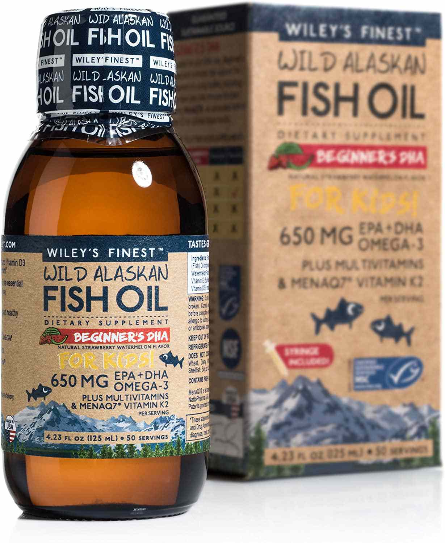 Wiley's Finest Wild Alaskan Fish Oil Beginner's DHA