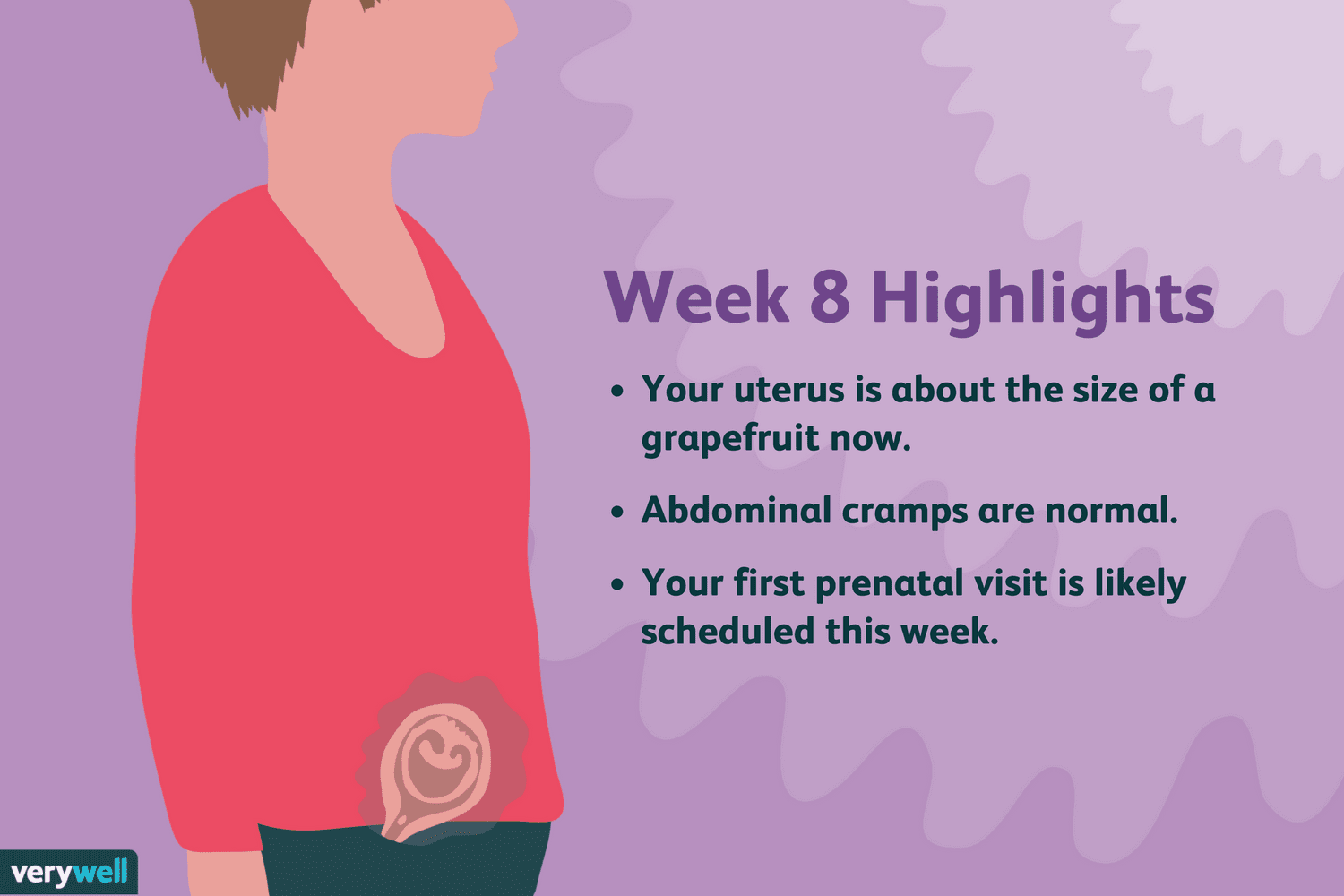 8 Weeks Pregnant: Symptoms, Baby Development, and More