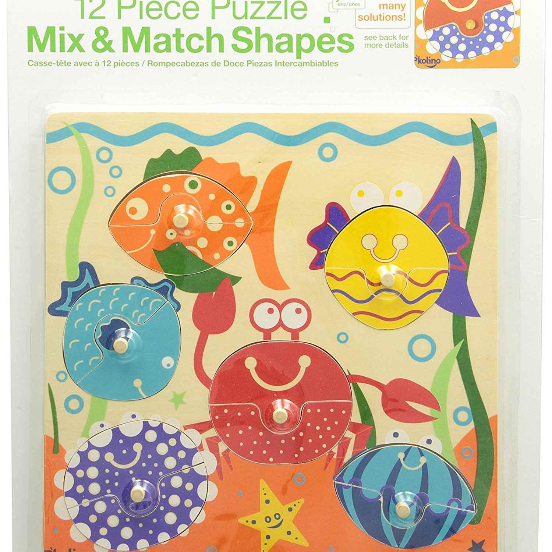 Mix & Match Sea Life Puzzle