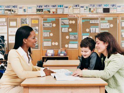 Teacher, parent, child