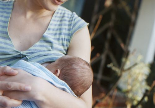 A new mom breastfeeding her baby