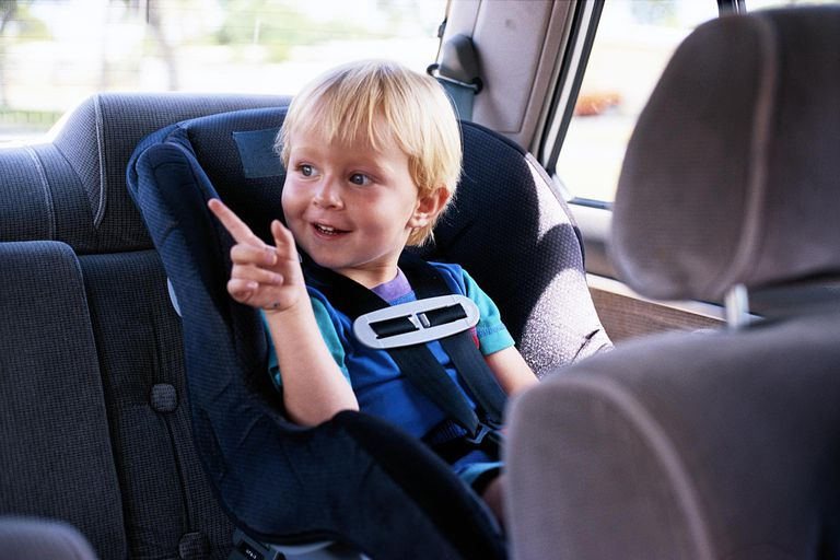 2 YEAR OLD BOY IN CAR SEAT