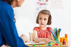 Play therapist often provide art supplies.