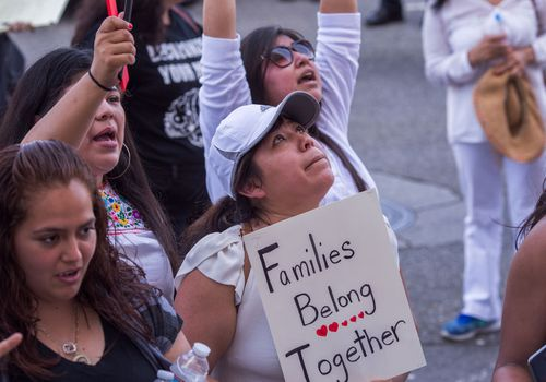 Families belong together. Thousands Across U.S March In Support Of Keeping Immigrant Families Together