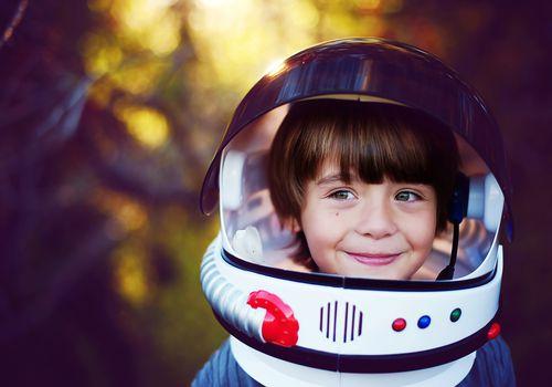 Boy in a helmet