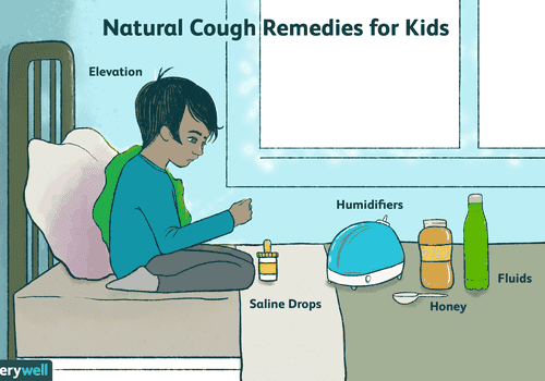 Boy with cough remedies