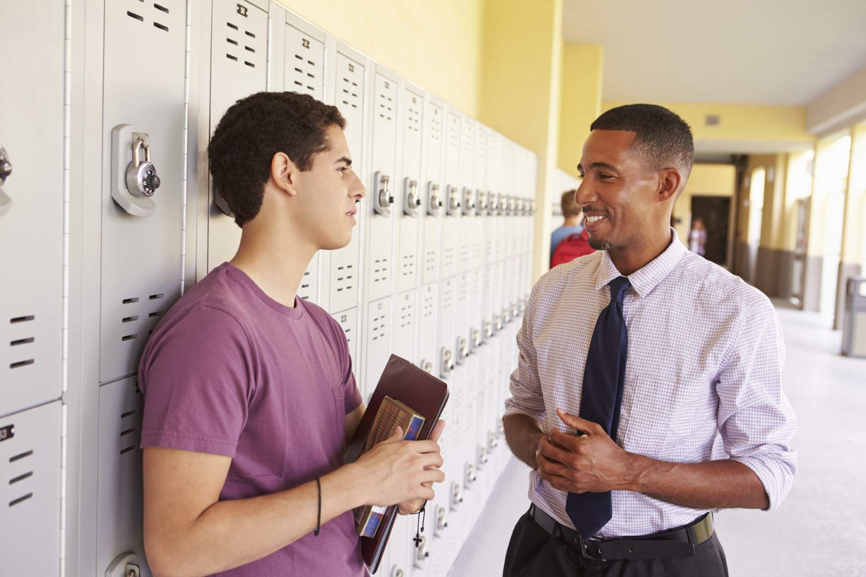 Teacher and student talking