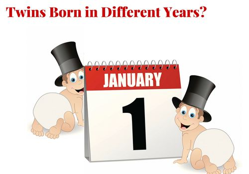 Twins born in different years