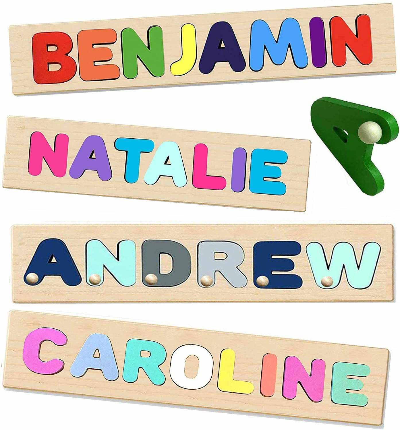 KIDZCO PUZZLES Wooden Personalized Name Puzzle