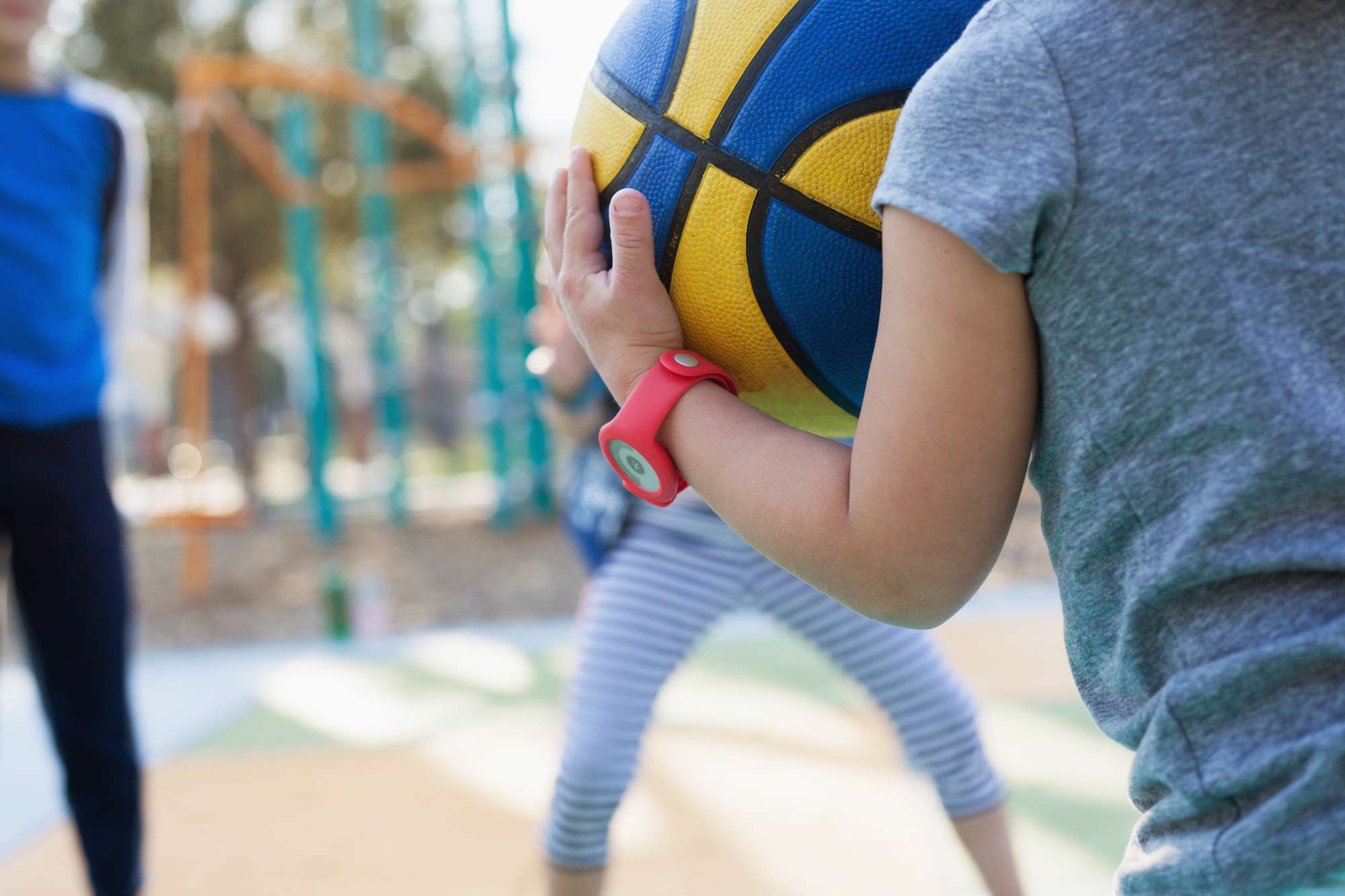 Child with fitness tracker