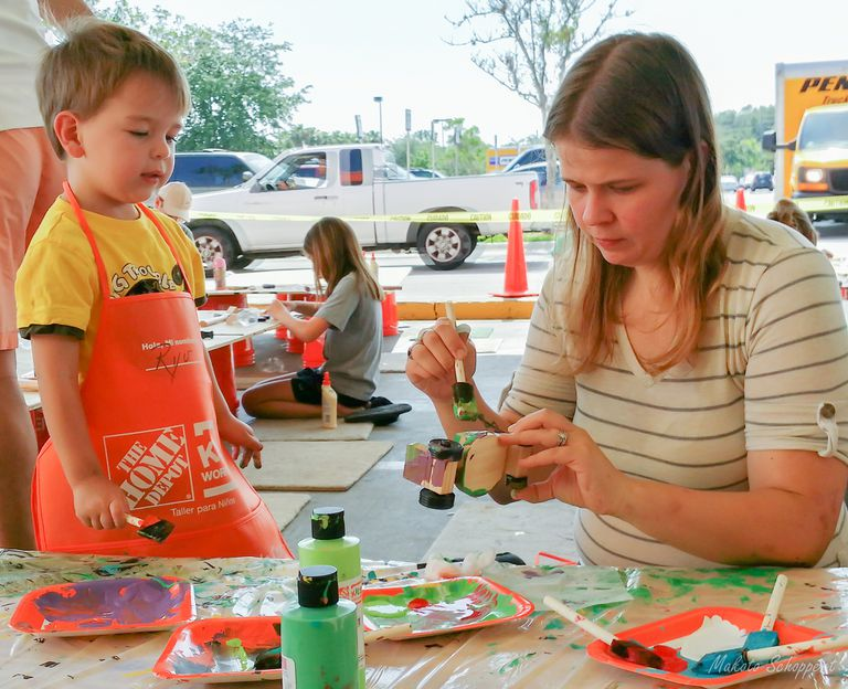Kids' workshop at the Home Depot