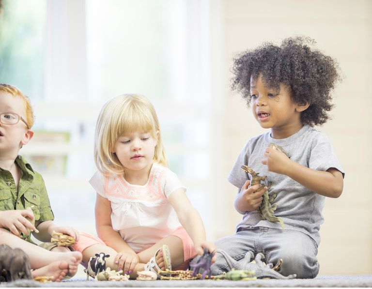 Toddlers learning to share toys