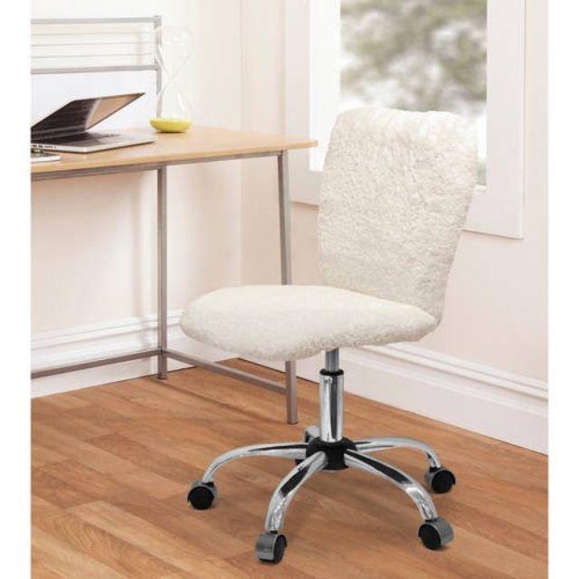 Urban faux fur armless chair