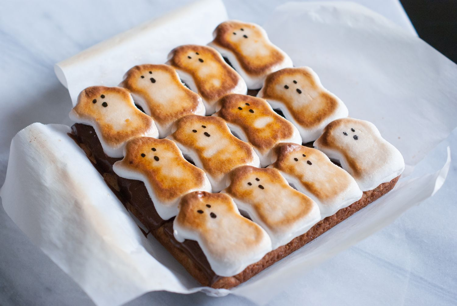 Ghost S'mores make a great Halloween treat.