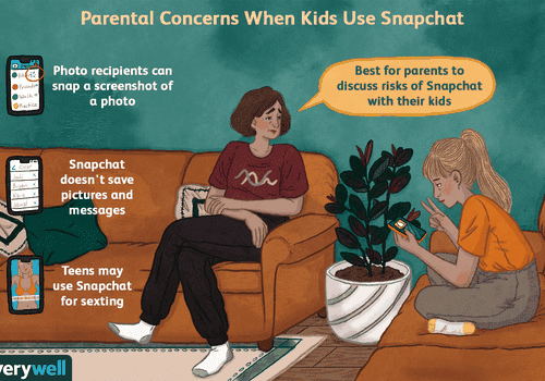 Parental concerns when kids use snapchat
