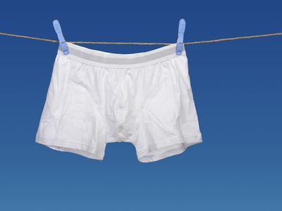 White underwear on a string