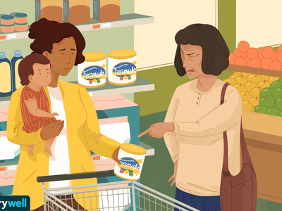 Mother at grocery store getting unsolicited post-pregnancy advice