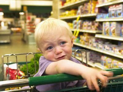 Grocery stores are a prime place for toddlers to have temper tantrums.