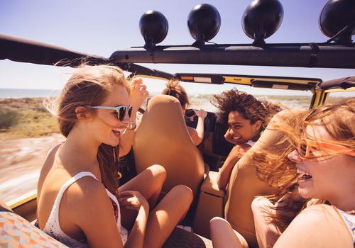 Teens in a car