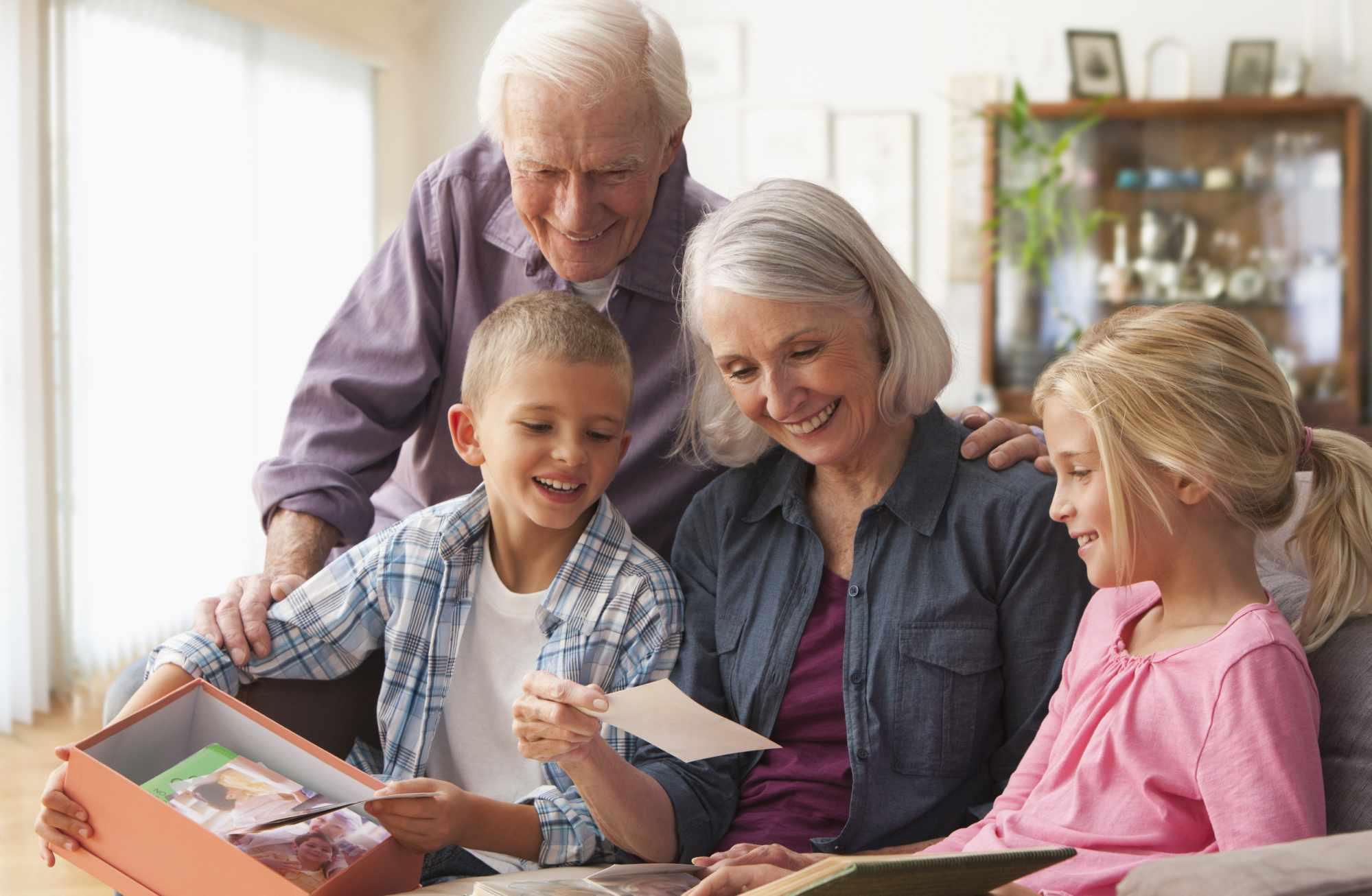 Sharing a memory box with grandchildren