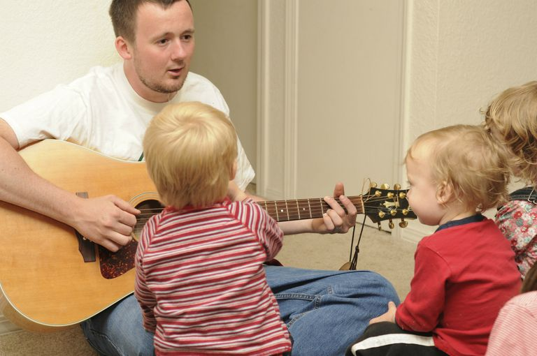 Toddlers enjoying music class