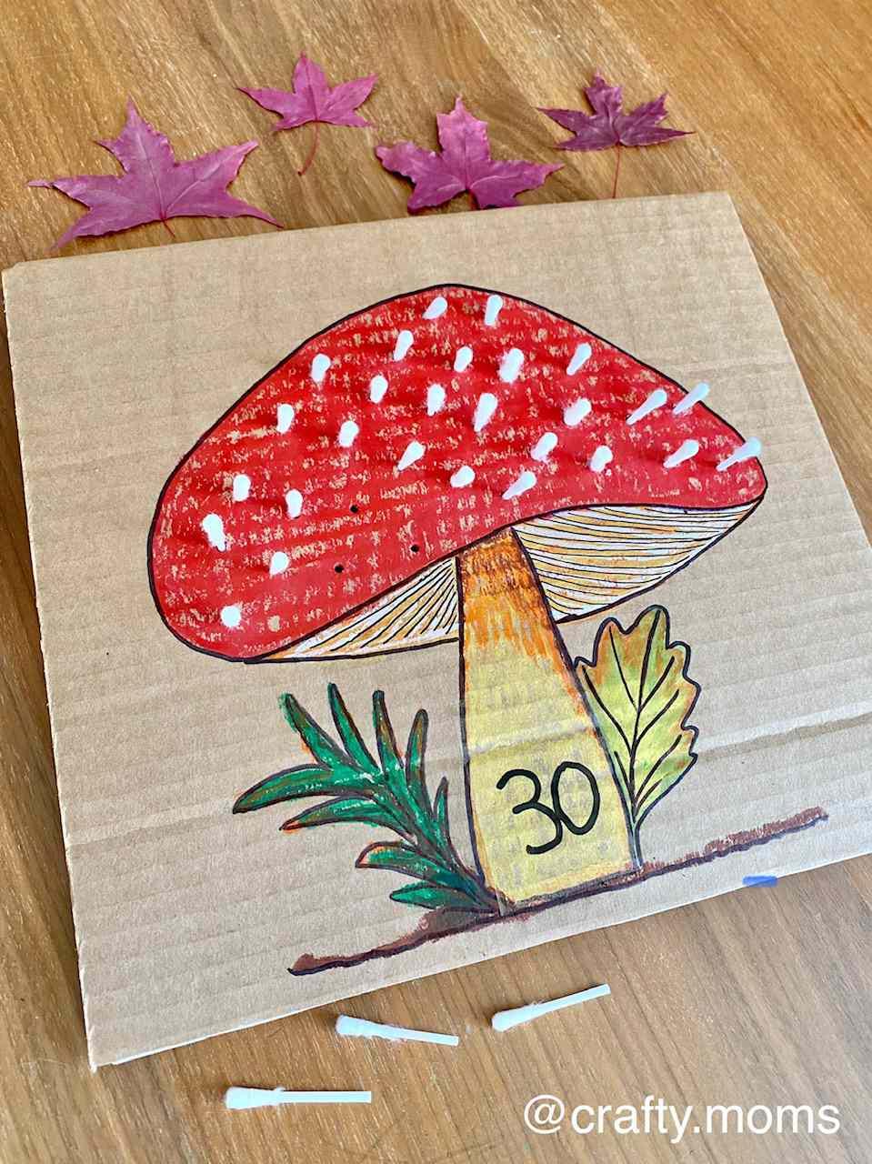 Fall mushroom craft activity