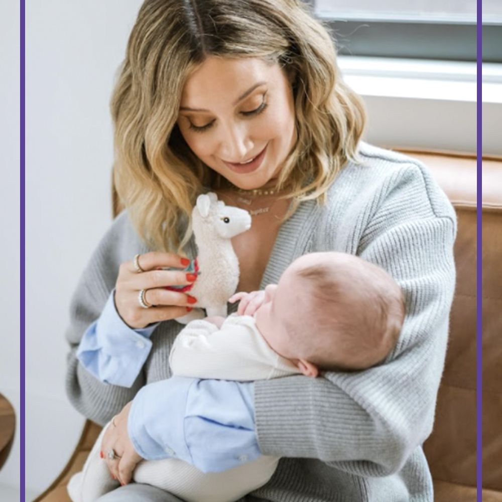 Ashley Tisdale and her daughter, Juniper