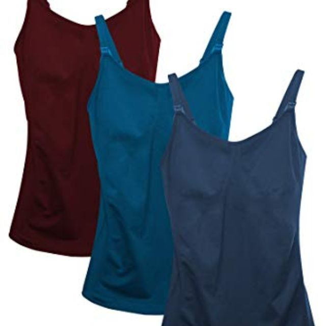 29901dfee4b41 Best Overall  HOFISH Ultra Soft Pregnant Seamless Maternity   Nursing Cami  Tank Top